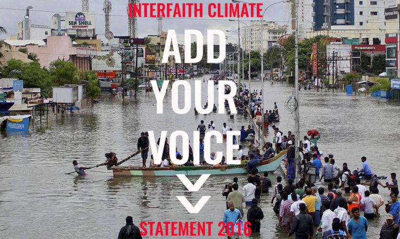 Religious Climate Change Statement